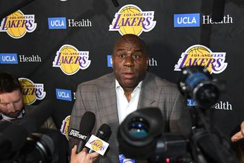 "Magic Johnson Is Still Working ""Internally"" With The Lakers, Despite Stepping Down"