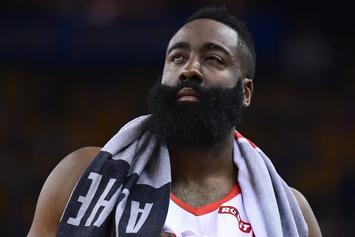 "James Harden ""Can Barely See"" After Injury Causes Bleeding To Both Eyes"