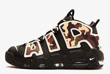 """Camo"" Nike Air More Uptempo Set For June Release: Detailed Images"