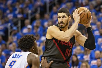 Enes Kanter Heckled By Fans For Not Being Able To Return To Turkey