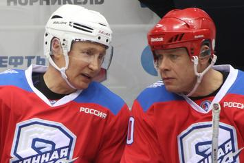 Vladimir Putin Instills Fear In His Enemies With Eight-Goal Hockey Performance