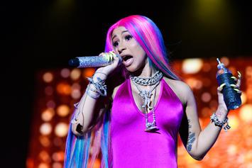 Cardi B Poses In Tiny Bra While Showing Off Her Flowers