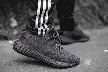 "Adidas Yeezy Boost 350 V2 ""Black"" Drops This Week: On-Foot Photos"