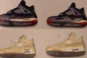 Off-White x Air Jordan 4 Samples Surface: First Look