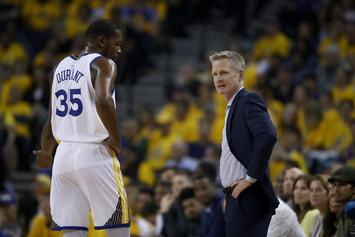 """Kevin Durant Finally Practices With Team, Extending Hope For """"Angst-Ridden"""" Warriors"""