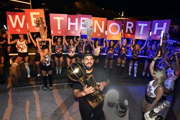 Drake Celebrates Win With The Raptors In Crazy Las Vegas Bash