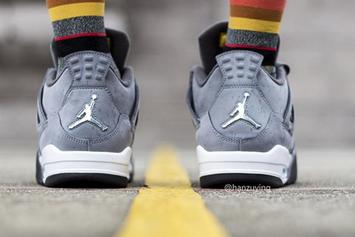 "Air Jordan 4 ""Cool Grey"" Returns In August: On-Foot Images"