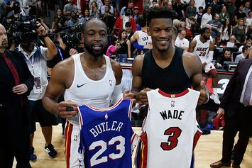 "Dwyane Wade Welcomes Jimmy Butler To Miami: ""You Can't Have My Locker"""