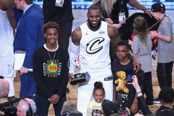 Bronny James Jr Comes Within Inches Of Posterizing Player, LeBron Reacts
