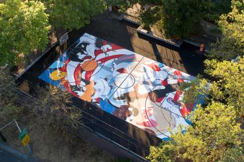 Space Jam Themed Basketball Court Unveiled In Brooklyn