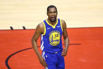 Kevin Durant & Gorgeous Bikini-Clad Women Party It Up On Yacht Vacation