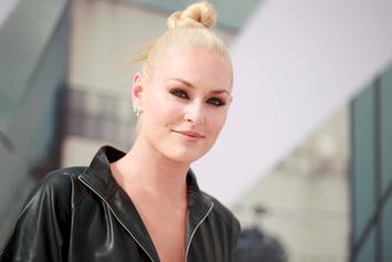 Lindsey Vonn Stuns In Revealing See-Through Shirt At Vanity Fair Party