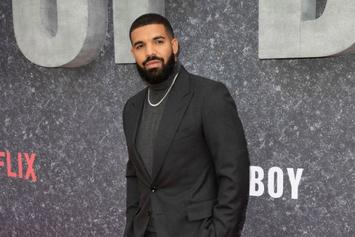 "Drake Celebrates ""Top Boy"" Premiere By Partying At London's Playboy Club"
