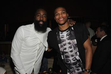 """James Harden Praises Russell Westbrook: """"That's A Killer, For Real"""""""