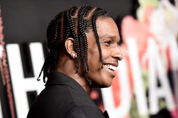 A$AP Rocky Vibing Front Row At Gucci Fashion Show Is A Whole Mood