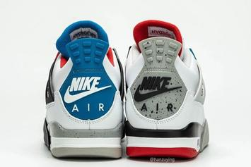 """Air Jordan 4 """"What The"""" Pays Homage To OG Colorways: Detailed Photos"""