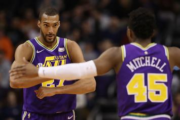 Rudy Gobert Hilariously Clowns Donovan Mitchell For Zendaya Tweet