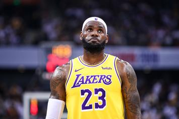 LeBron James Brings Back Infamous Chalk Toss Routine, Fans React