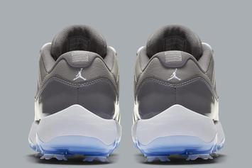 """Air Jordan 11 Low """"Cool Grey"""" Given Golf Show Makeover: Details"""