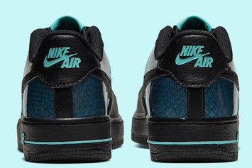 Nike Air Force 1 Low Gets Oily Blue Snakeskin Makeover: Official Images