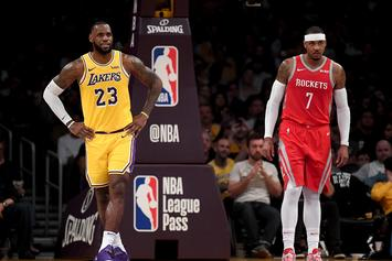 """Lebron James Calls Carmelo Anthony A """"Brother Of Mine"""" After Friday's Matchup"""