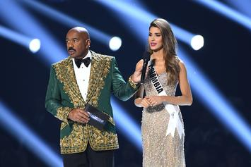 "Steve Harvey Tells Miss Universe Critics To ""Quit Tripping"""