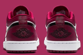 """Air Jordan 1 Low Receives """"Noble Red"""" Makeover: Official Images"""