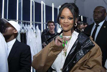 Rihanna's Long Legs Glisten In Valentine's Day Lingerie Photos