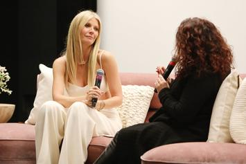 """Gwyneth Paltrow Poses In Front Of Vagina Bouquet At Her """"Goop Lab"""" Premiere"""