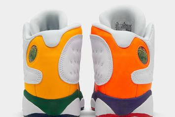 """Air Jordan 13 Releasing In Colorful """"Playground"""" Design: On-Foot Photos Revealed"""