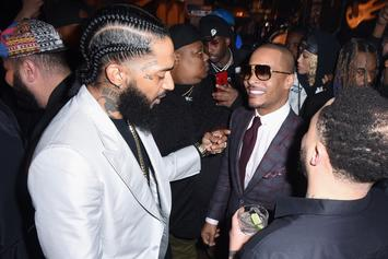"""T.I. Shares Vintage Nipsey Hussle Photo With Warning: """"Choose Your Words Carefully"""""""
