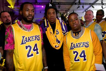 Meek Mill, Jay-Z & Yo Gotti Rep For Kobe Bryant During Super Bowl Weekend