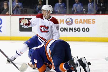 Johnny Boychuk Slashed In The Face By A Skate In Scary Incident