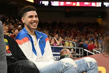 """LaMelo Ball Shows Off New """"Sky's The Limit"""" Tattoo: Video"""