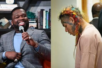 50 Cent's Estranged Son Reacts To 6ix9ine's Comments