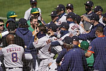 Brawl Breaks Out During Oakland A's & Houston Astros Game