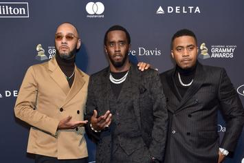 Diddy Has Beach Meet-Up With Travis Scott, Nas, Quavo, & Swizz Beatz