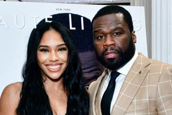 50 Cent's Girlfriend Cuban Link Steals The Spotlight In Sexy Savage x Fenty Lingerie