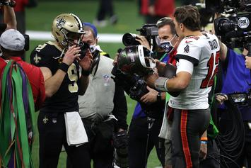 Tom Brady & Drew Brees Share Special Moment After Playoff Matchup