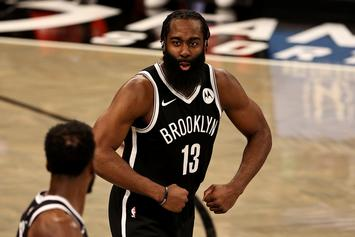 """James Harden Says Nets Are """"Catching A Rhythm"""" After Team Ties Franchise Record For Points"""