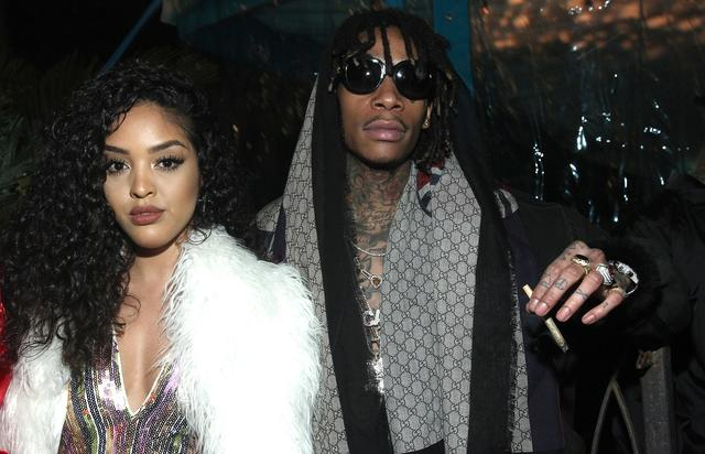 Wiz Khalifa with his girlfriend Izabel 2017