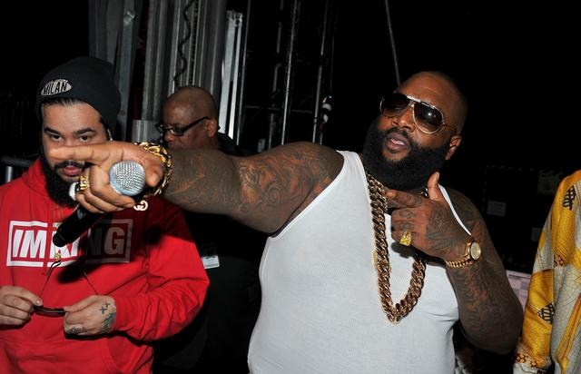 Rick Ross in a wifebeater