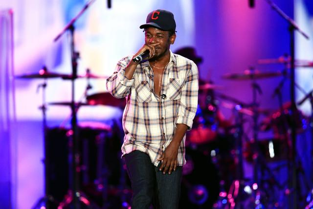 Kendrick Lamar at the 2014 Budweiser Made In America festival