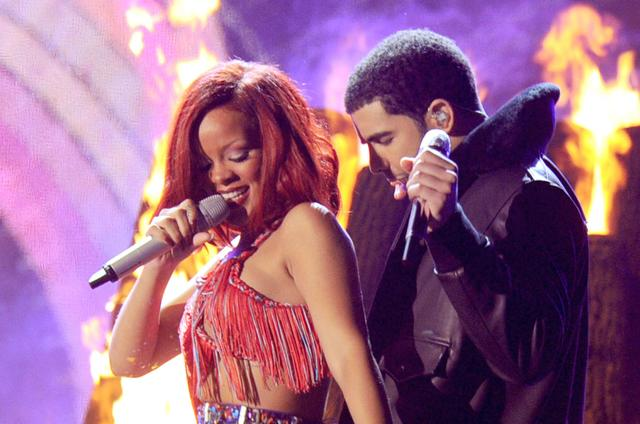 Drake Rihanna The 53rd Annual GRAMMY Awards - Show