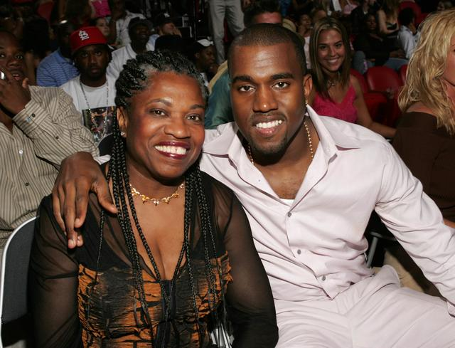 Kanye West & his mom at MTV VMAS