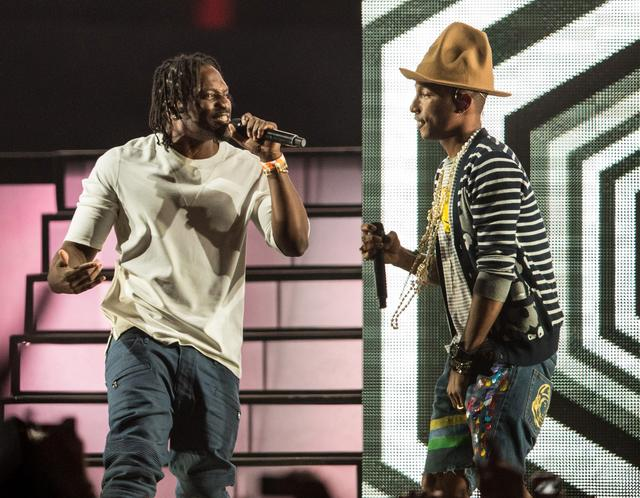 Pusha T and Pharrell at Coachella in 2014