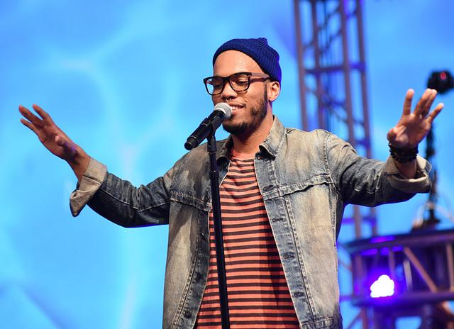 nderson .Paak performs at Anderson .Paak and Free Nationals Band Live Performance Presented By The Virtual Reality Company at Mack Sennett Studios on October 27, 2015 in Los Angeles, California.