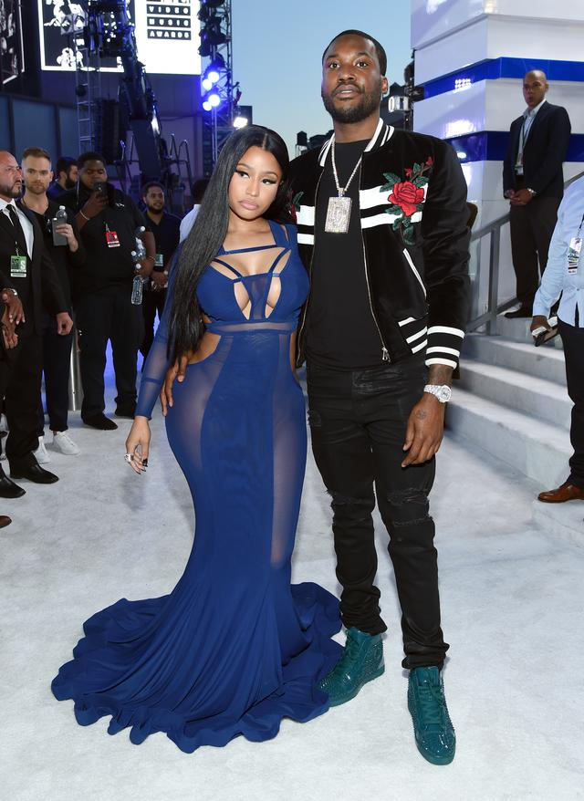 Meek Mill & Nicki Minaj attend the MTV VMAs together