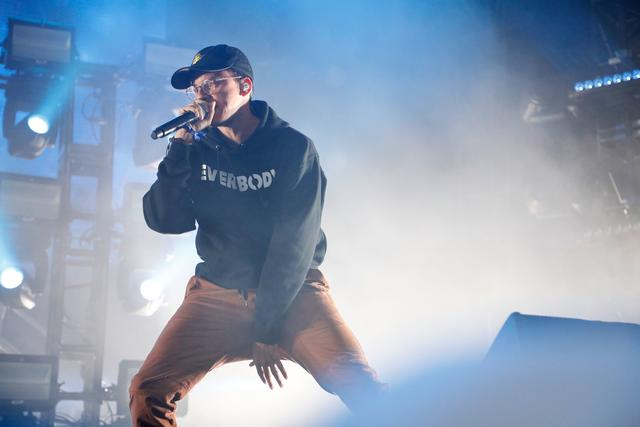 Logic performing at Gov Ball