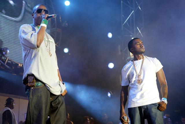 Jay Z and Kanye West at Summer Jam 2005